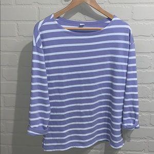 Old Navy shirt knit soft NWT striped purple white